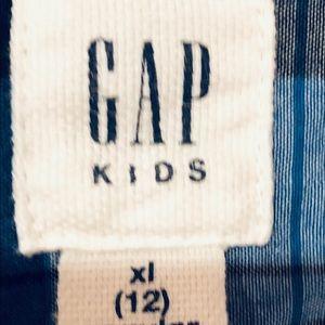 GAP Shirts & Tops - Gap boys button down blazer, blue plaid, size 10